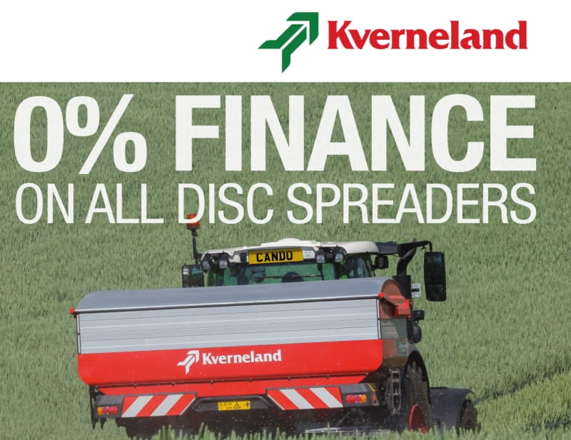 0% Finance on all Kvernland disc spreaders
